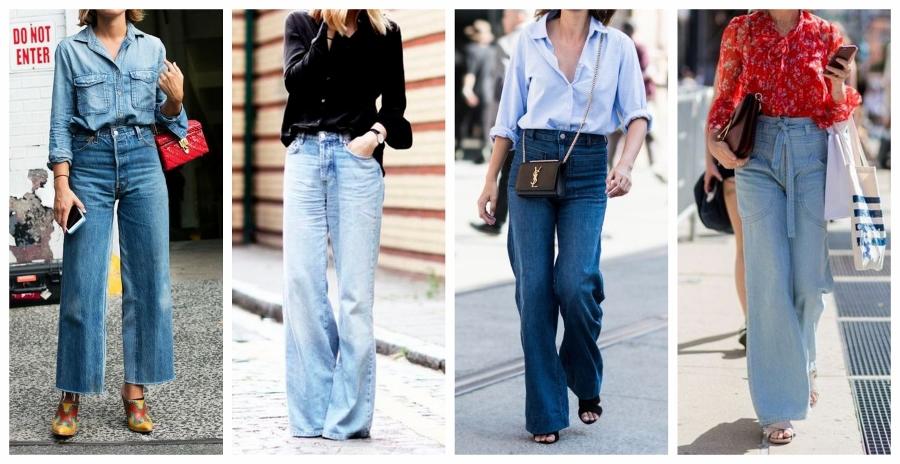 Use sua pantalona jeans com camisa, fica lindo!