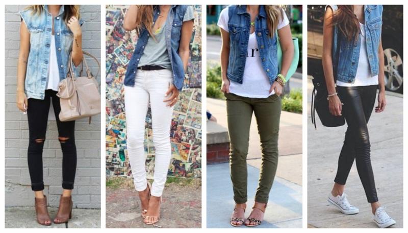 Jogue um colete jeans sobre um look básico e na hora você ganha um visual com mais atitude.