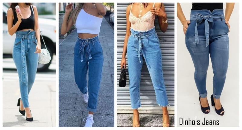 Quatro jeitos de usar a calça jeans clochard com top, para o verão.