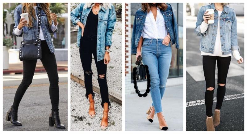 Looks femininos com jaqueta jeans