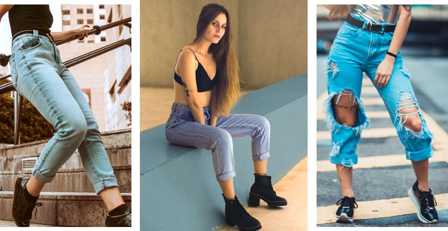 Conheça os tipos de jeans que serão tendência em 2020. Jeans mom.