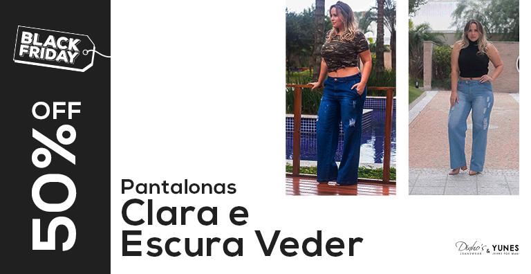 Pantalonas clara e escura modelo Veder